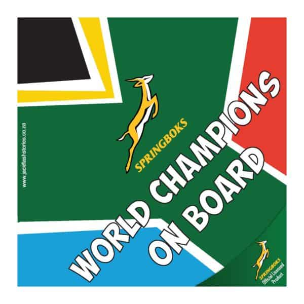 World Champions on board sign