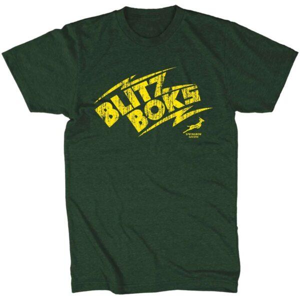 Blitzboks Mens Green Tshirt